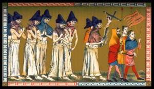 Medieval flagellants around the time of the Black Death