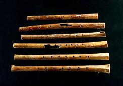 Collection of 8000 year old Gudi or Chinese bone flutes