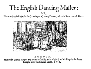First edition of John Playford's The Dancing Master