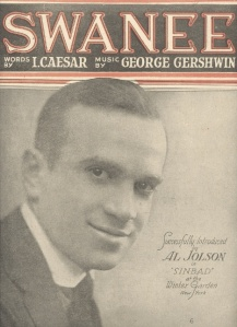 "Irving Caesar & George Gershwin's ""Swanee"" sheet music"