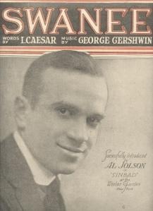"Irving Caesar & George Gershwin's ""Swanee"" sheet music"
