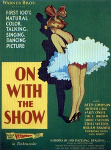 Poster for Alan Crosland's technicolour musical film On With the Show