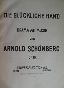 Sheet music for Arnold Schoenberg's opera Die glückliche Hand