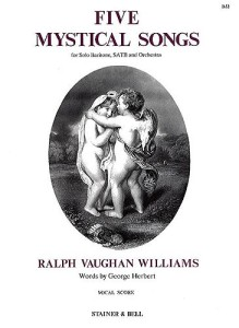Sheet music for Ralph Vaughan Williams' Five Mystical Songs