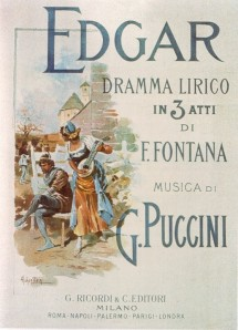 Cover of the score of Puccini's opera Edgar