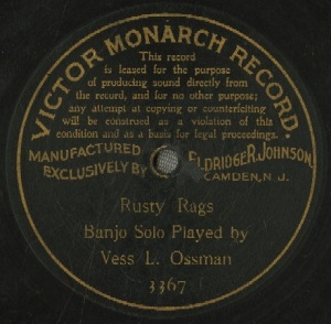 Vess Ossman – Rusty Rags (Victor 3367)