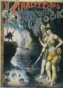 Poster for the musical The Black Crook