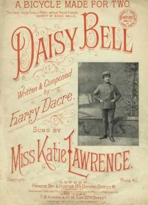 "Sheet music for Harry Dacre's ""Daisy Bell"""