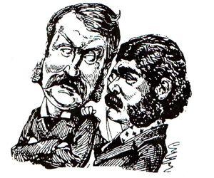 Arthur Sullivan 1842-1900 and W. S. Gilbert 1836-1911