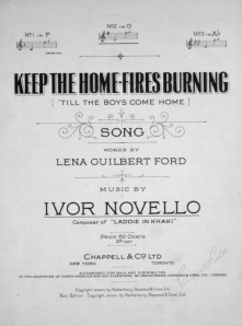 "Sheet music for Ivor Novello and Lena Ford's ""Keep the Home Fires Burning"""