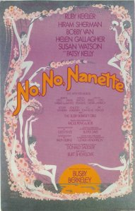 "Poster for musical ""No, No Nanette"""