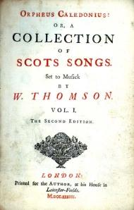 Orpheus Caledonius by W Thomson - second edition (1733)