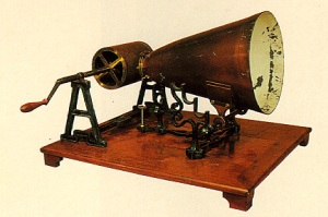 An 1859 Koenig phonautograph, the precursor to Edison's Cylinder Phonograph