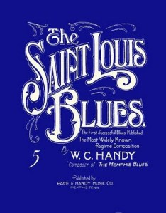 "Sheet music for W.C. Handy's ""St Louis Blues"""