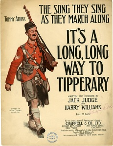 "Sheet music for Jack Judge and Harry Williams' ""It's a Long Way to Tipperary"""