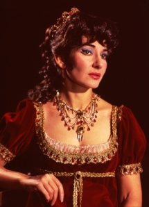 Maria Callas in a 1964 London production of Puccini's Tosca