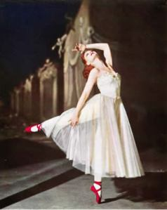 Moira Shearer in Michael Powell and Emeric Pressburger's film The Red Shoes