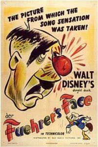 Poster for Walt Disney's propaganda short Der Fuehrer's Face starring Donald Duck