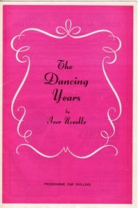Programme for the original London production of Ivor Novello's musical The Dancing Years