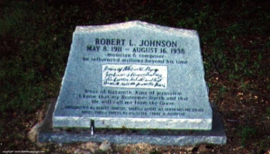 Robert Johnson's grave in Greenwood, MS. One of three claimed locations, but most likely the true one