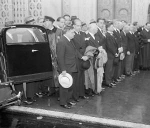 Mayor Fiorello La Guardia at Gershwin's funeral in New York